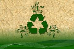 Reciclaje de arte creativo en el papel reciclado Imágenes de archivo libres de regalías