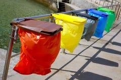 Reciclaje de bolsos Fotografía de archivo libre de regalías