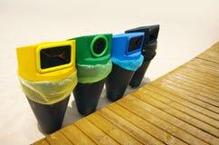 Reciclaje de cestas Imagen de archivo libre de regalías