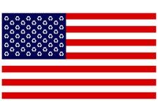 Reciclaje de Estados Unidos Foto de archivo libre de regalías