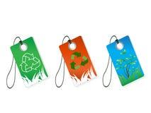 Reciclaje de etiquetas Imagen de archivo libre de regalías