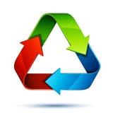 Reciclaje de flechas Imágenes de archivo libres de regalías