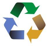 Reciclaje de flechas de los colores Fotografía de archivo