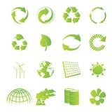 Reciclaje de iconos Fotos de archivo