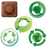 Reciclaje de iconos Foto de archivo libre de regalías