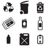 Reciclaje de iconos Fotos de archivo libres de regalías
