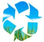 Reciclaje de insignia Fotos de archivo