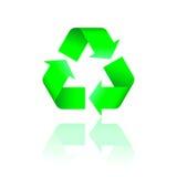 Reciclaje de insignia con la reflexión Imagen de archivo