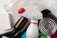 Reciclaje de la basura médica imagen de archivo libre de regalías