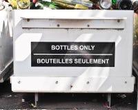 Reciclaje de la botella foto de archivo libre de regalías