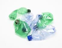 Reciclaje de la botella plástica imágenes de archivo libres de regalías
