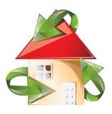 Reciclaje de la casa Imagen de archivo libre de regalías