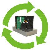 Reciclaje de la electrónica Fotos de archivo libres de regalías