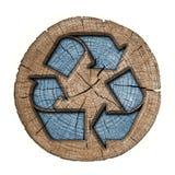 Reciclaje de la etiqueta del símbolo 3d Imagen de archivo