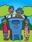 Reciclaje de la familia Imagen de archivo libre de regalías