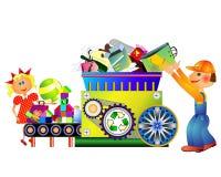 Reciclaje de la máquina Foto de archivo libre de regalías