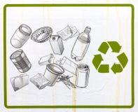 Reciclaje de la muestra foto de archivo