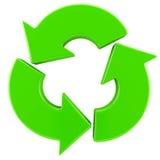 Reciclaje de la muestra de las flechas Fotografía de archivo