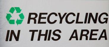 Reciclaje de la muestra del área Imagen de archivo