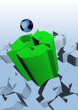 Reciclaje de la muestra y de la tierra Imágenes de archivo libres de regalías