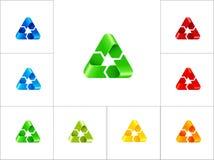 Reciclaje de la plantilla del diseño del logotipo de la muestra Imagen de archivo libre de regalías