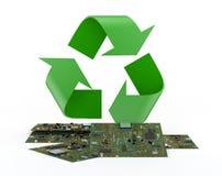 Reciclaje de la electrónica Imágenes de archivo libres de regalías