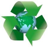 Reciclaje de la tierra Imagen de archivo libre de regalías