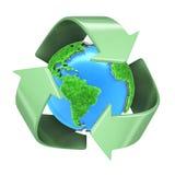 Reciclaje de la tierra del planeta Fotografía de archivo