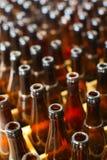 Reciclaje de las botellas de cerveza Foto de archivo libre de regalías