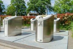 Reciclaje de los botes de basura Fotografía de archivo