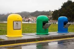 Reciclaje de los envases Foto de archivo