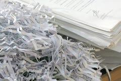 Reciclaje de papel Fotos de archivo libres de regalías