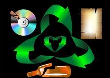 Reciclaje de residuos ilustración del vector