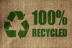 Reciclaje de símbolo Imagen de archivo libre de regalías