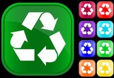 Reciclaje de símbolo Fotos de archivo libres de regalías