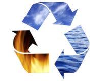 Reciclaje de símbolo Fotografía de archivo libre de regalías