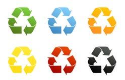 Reciclaje de símbolos Fotografía de archivo
