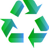 Reciclaje de símbolo del eco Imágenes de archivo libres de regalías