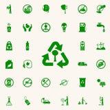 reciclaje de un icono del verde del árbol sistema universal de los iconos de Greenpeace para el web y el móvil stock de ilustración