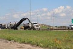 Reciclaje del asfalto Imagenes de archivo