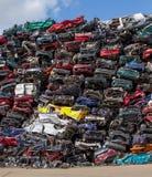 Reciclaje del coche Imágenes de archivo libres de regalías