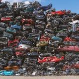 Reciclaje del coche Fotografía de archivo libre de regalías