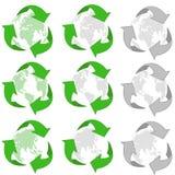 Reciclaje del conjunto del icono 3d stock de ilustración
