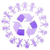 Reciclaje del emblema Foto de archivo libre de regalías