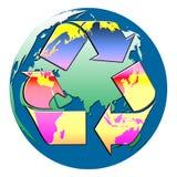 Reciclaje del globo ilustración del vector