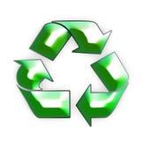 Reciclaje del icono 3D Fotos de archivo