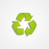 Reciclaje del icono en blanco Imagen de archivo