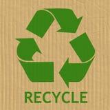 Reciclaje del mensaje del símbolo Imágenes de archivo libres de regalías