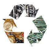 Reciclaje del metal Foto de archivo libre de regalías