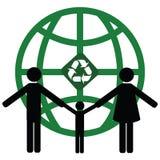 Reciclaje del mundo ilustración del vector